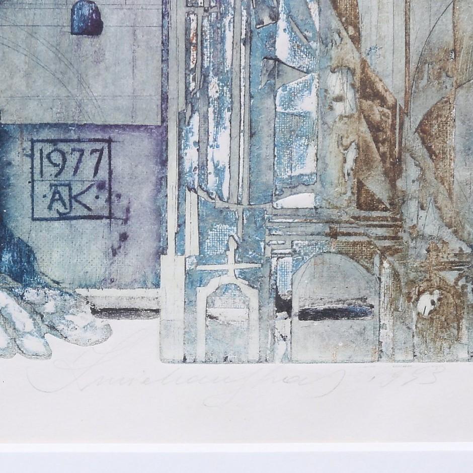 ANTANAS KMIELIAUSKAS rankom tapyta litografija