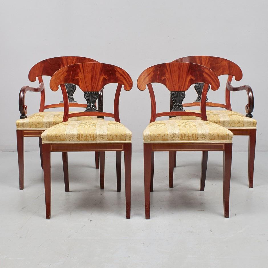antikvarinės kėdės ir foteliai