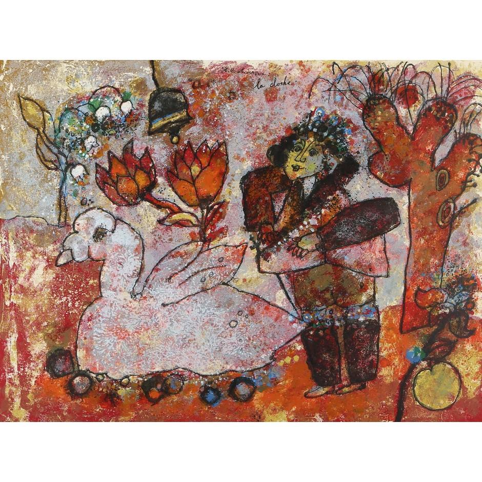 "Dailiniko Lindner Richard paveriklas ""Tūzas"", spalvota litografija"