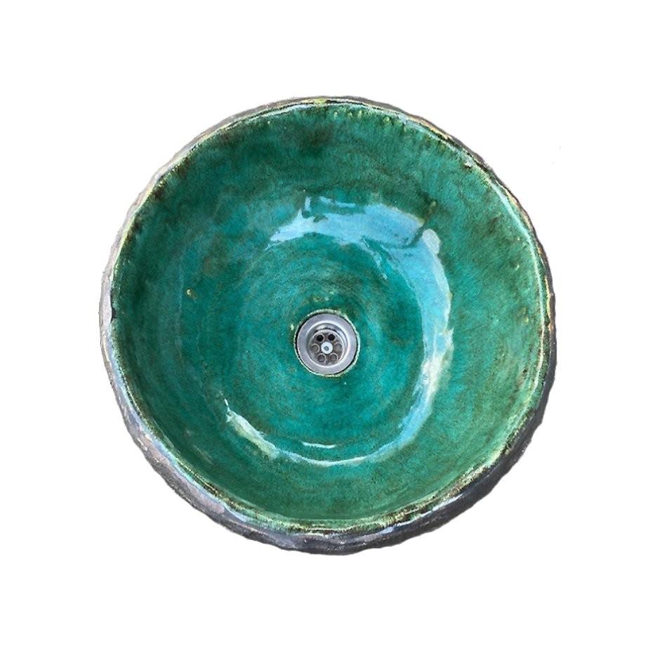 keramikinė kriauklė žalia